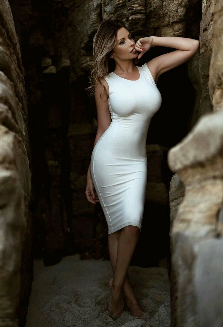 Sexy tight white dresses
