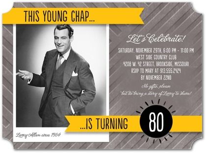 Always Young - Adult Birthday Party Invitations - Petite Alma - Citrus - Orange : Front