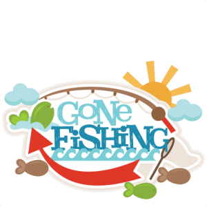 Gone Fishing Paper Piecing Title Die Cut Scrapbook Page Fishing Outdoors Layout