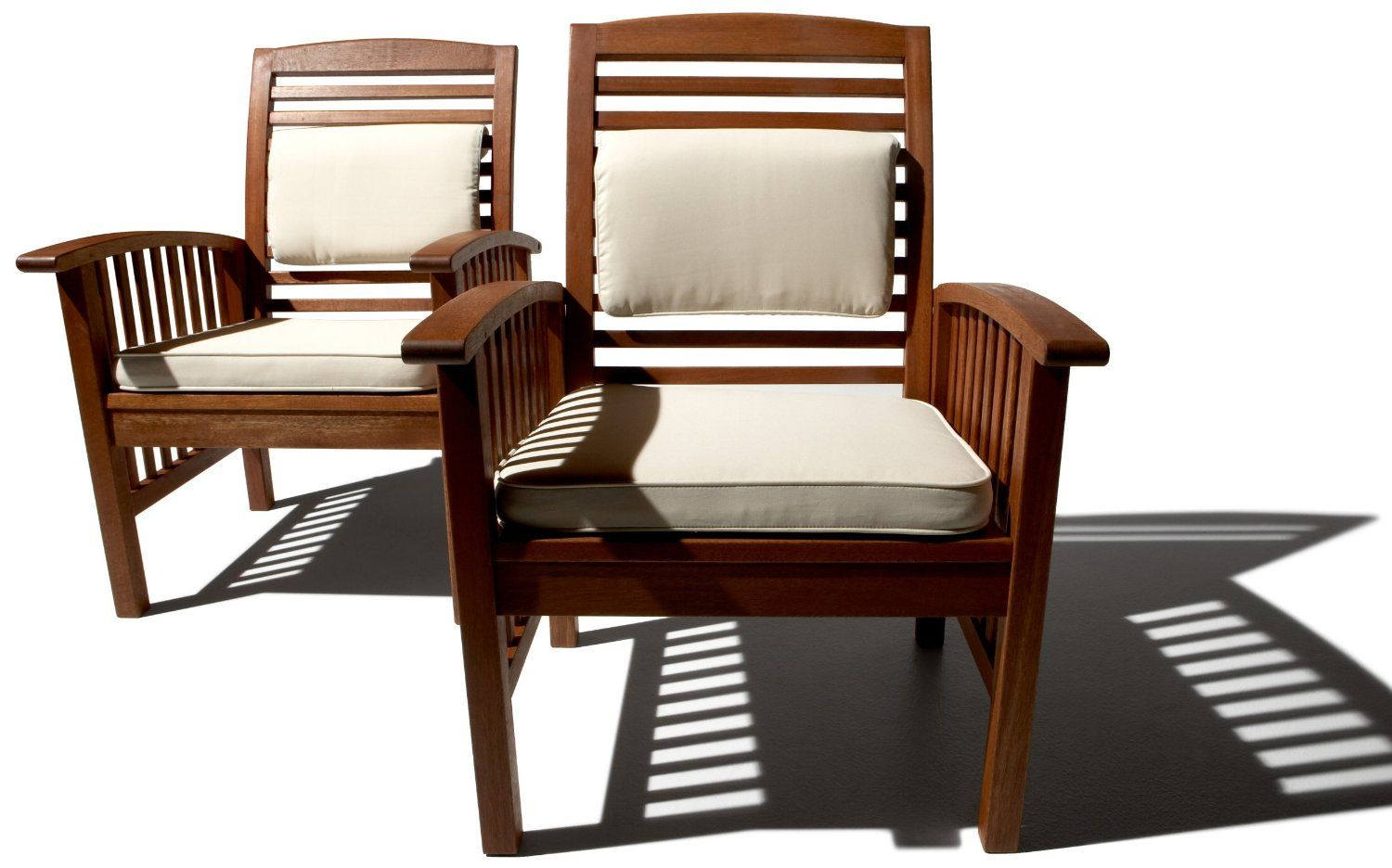 Amazon.com: Strathwood Gibranta All-Weather Hardwood Arm Chair, Set ...