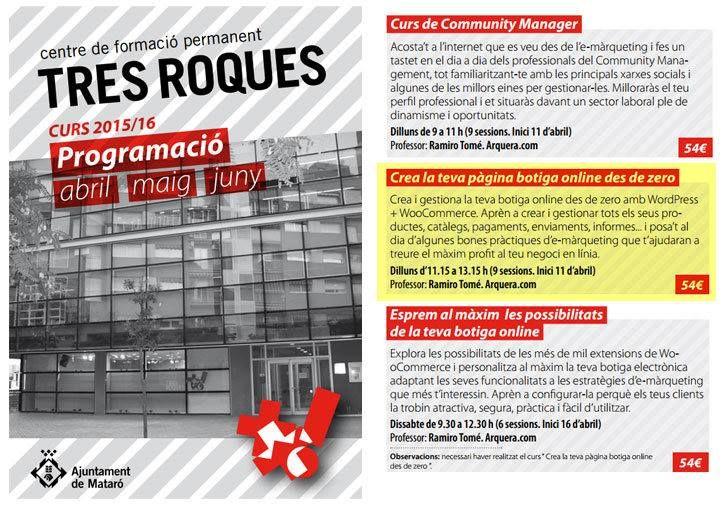 Cursos de Community Manager i WooCommerce (també nivell II)