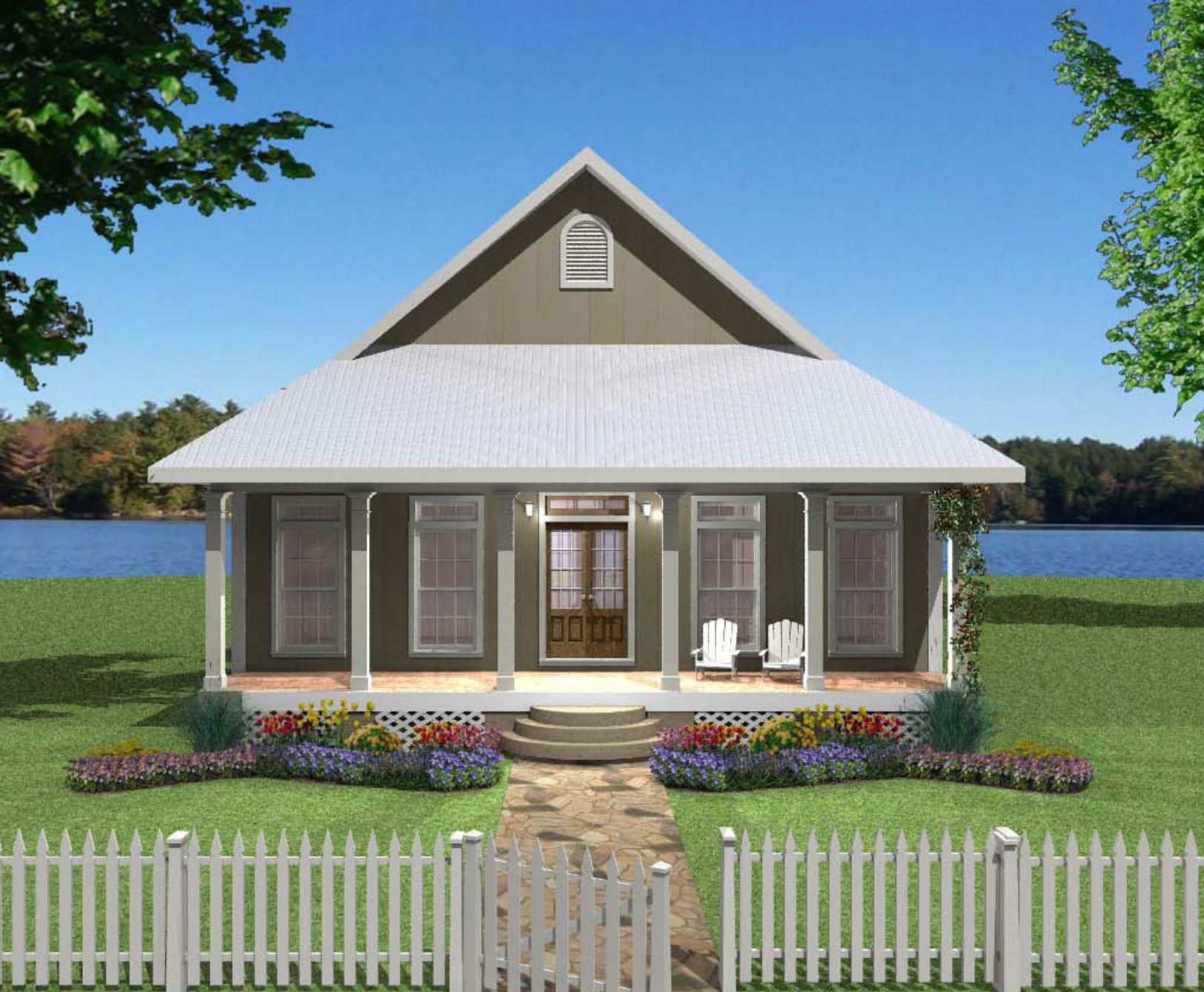 Small Plan Big Heart in 2019 Cottage style house plans