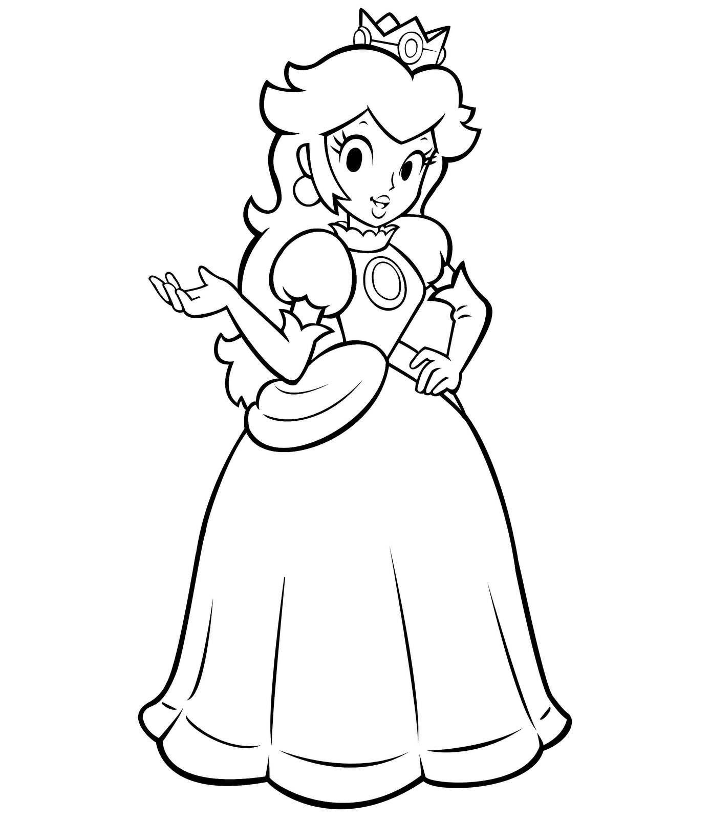 easy princess coloring pages - photo#16