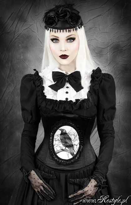 Details About Black Raven Cameo Gothic Corset Steampuk