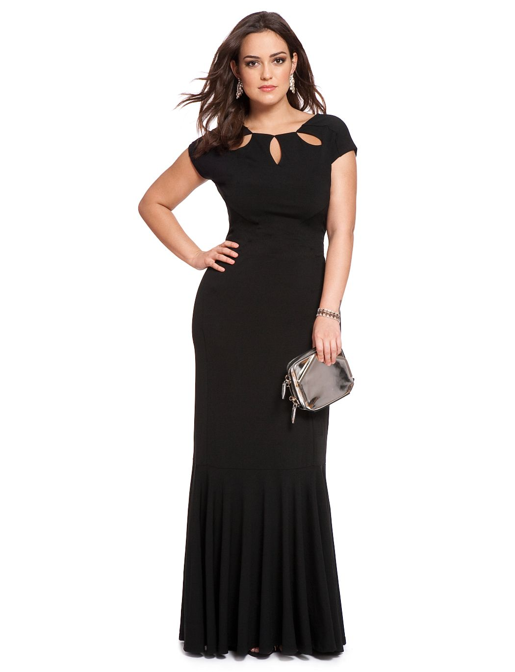 Studio petal neckline gown plus size dresses sexy and gowns