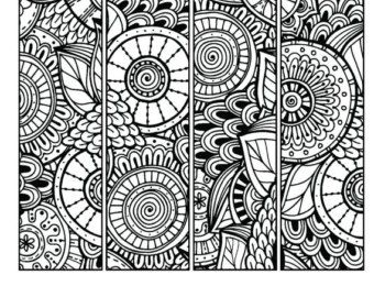 Printable Pattern Coloring Page Bookmarks PDF / JPG Instant ...