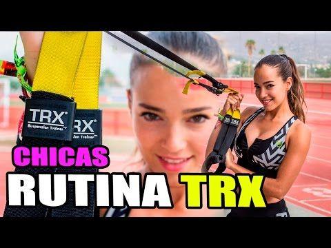 La mejor Rutina con TRX para Chicas    Ejercicios TRX para Mujeres - YouTube