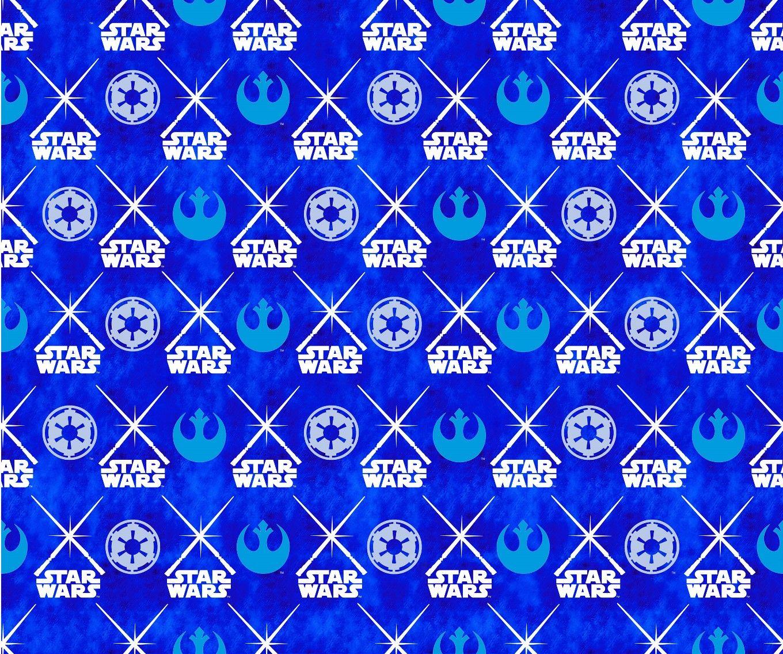 Star Wars Lightsabers Glow In The Dark Cotton Fabric Hi