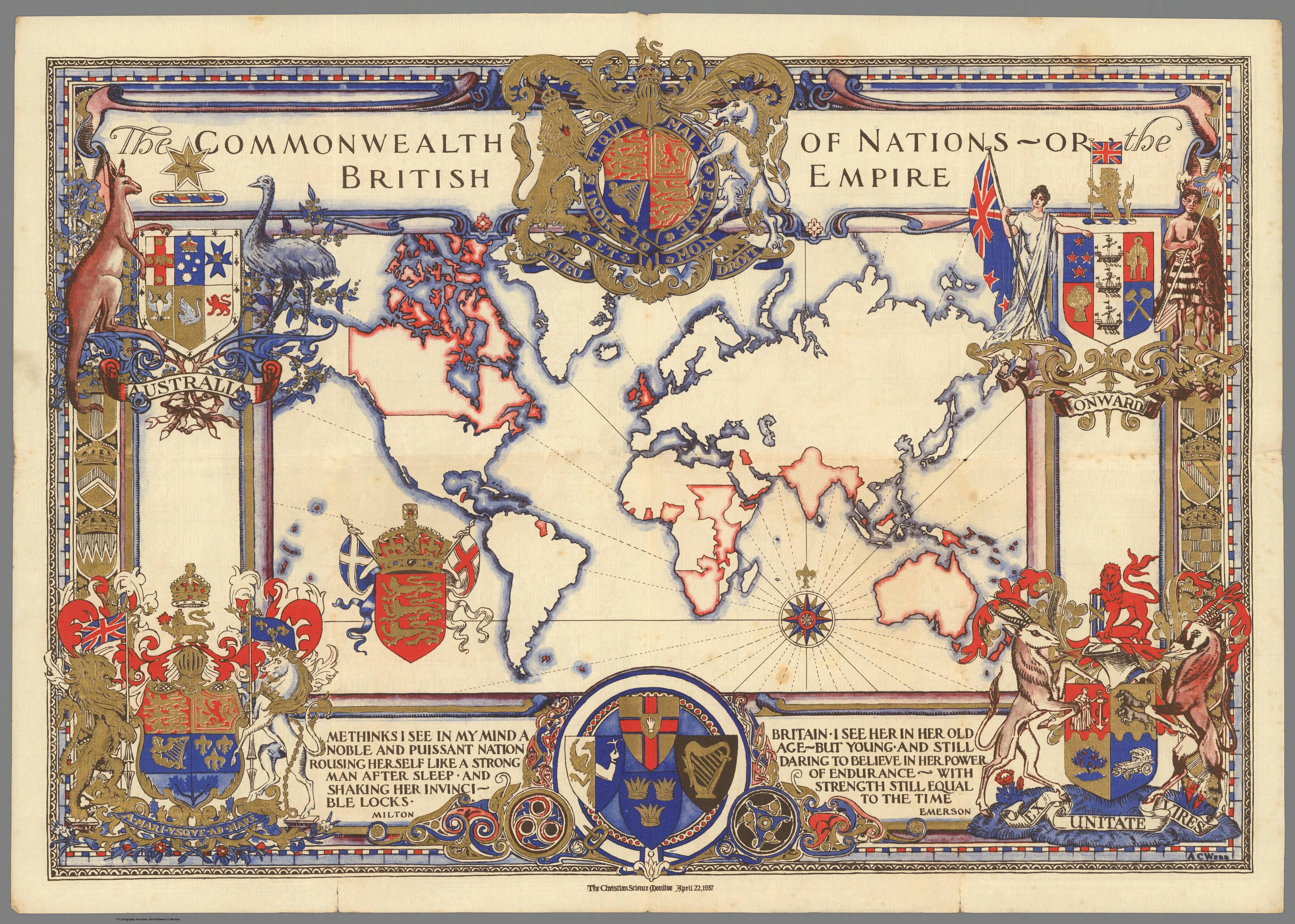 The Commonwealth Of Nations Or The British Empire Prepared To