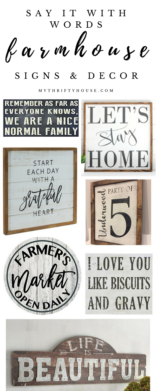 Say It With Words With Farmhouse Signs And Decor Farmhouse Signs Diy Kitchen Sign Diy Country House Decor