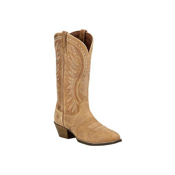 Women's Ariat Ammorette R Toe Cowgirl Boot - Brown Bomber Full Grain... (