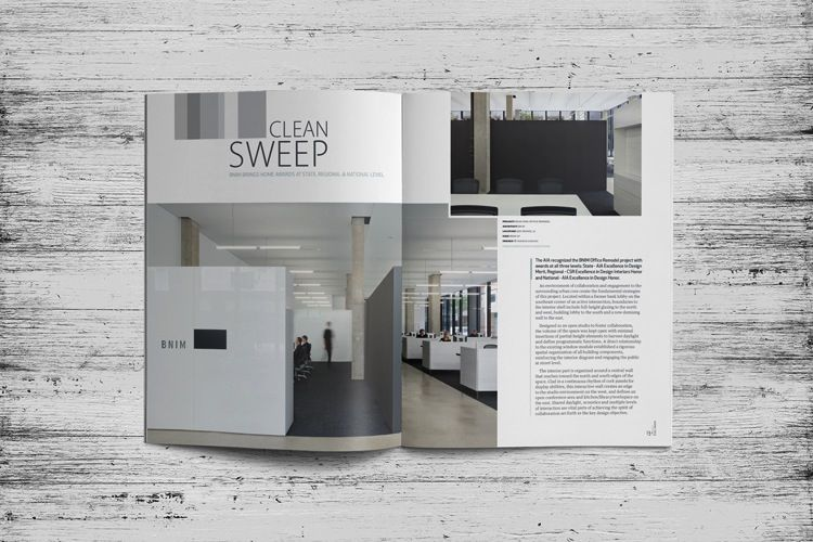Iowa Architect Magazine Layout Design Dlouhy Branding Design