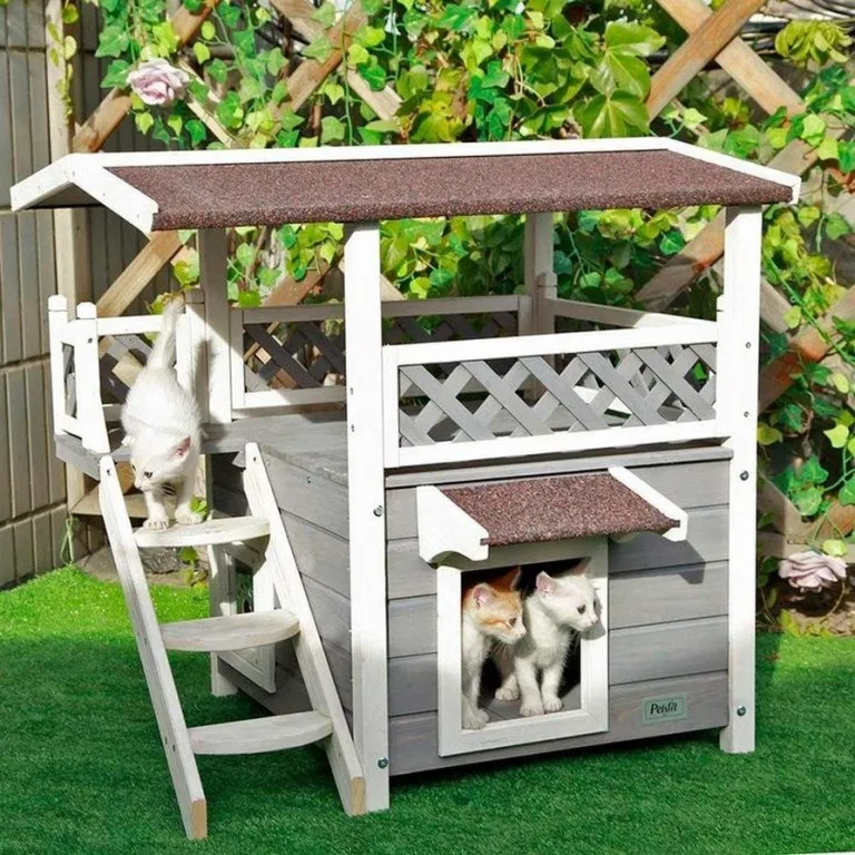 52 Gorgeous Cat House Ideas All Made Of Wood Wooden Cat House Outdoor Cat House Cat House