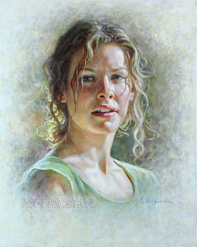 Evangeline Lilly painting portrait 2015 by Drawing-Portraits