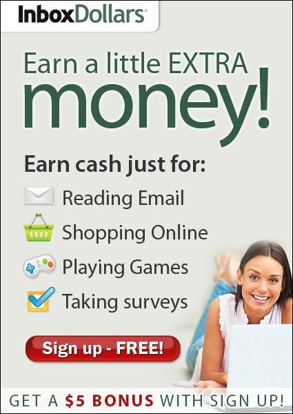 Inbox Dollars: Get paid to read emails, take surveys, search the web