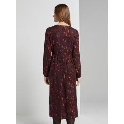 Tom Tailor Damen Gemustertes Midi-Kleid, rot, Gr.46 Tom TailorTom Tailor #honeycake