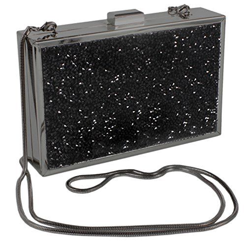 c5cdf18e1a Paul Peugeot 3D Black Crystal Clustered Evening Clutch Bag in Gun Plated  Finish     Check this awesome product by going to the link at the image.