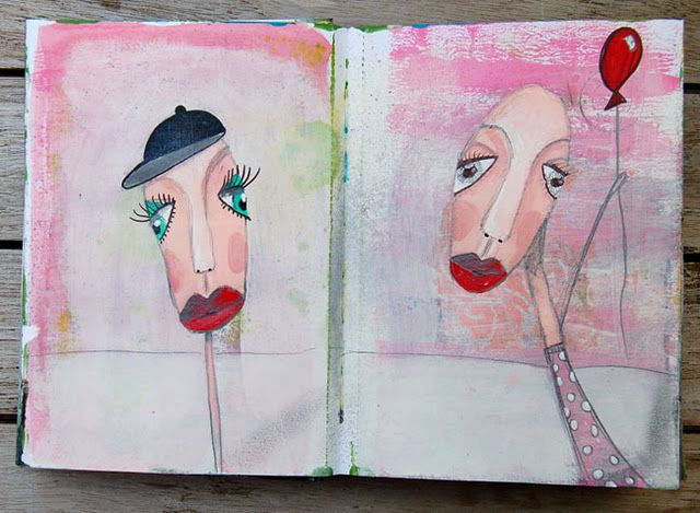 Art Journaling by Marieke Jongenelen-Blokland.