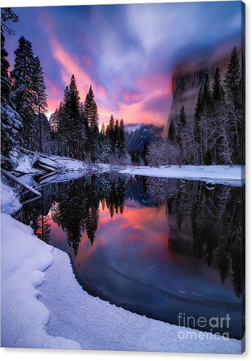 Winter's Twilight Canvas Print / Canvas Art by Anthony Michael Bonafede