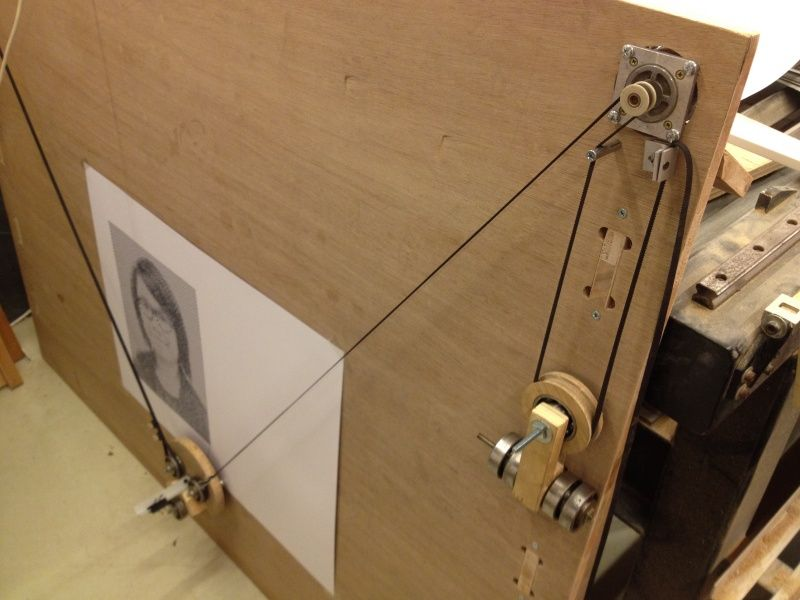 Polargraph: pulley system and counterweight | Woodworking in 2019