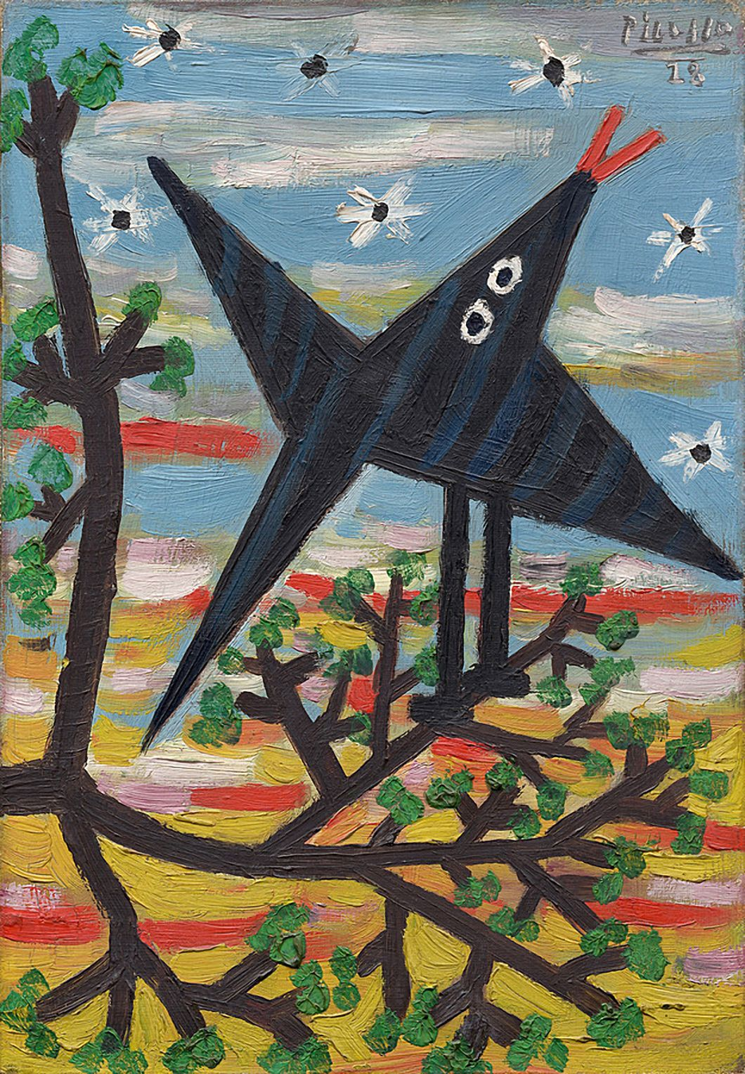Pablo Picasso Bird on a Tree (L\'oiseau) 1928. Oil on canvas. 34,9 x ...