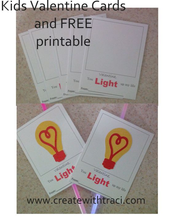 Kids Valentines With Free Printable And Cricut Artistry Light Bulb