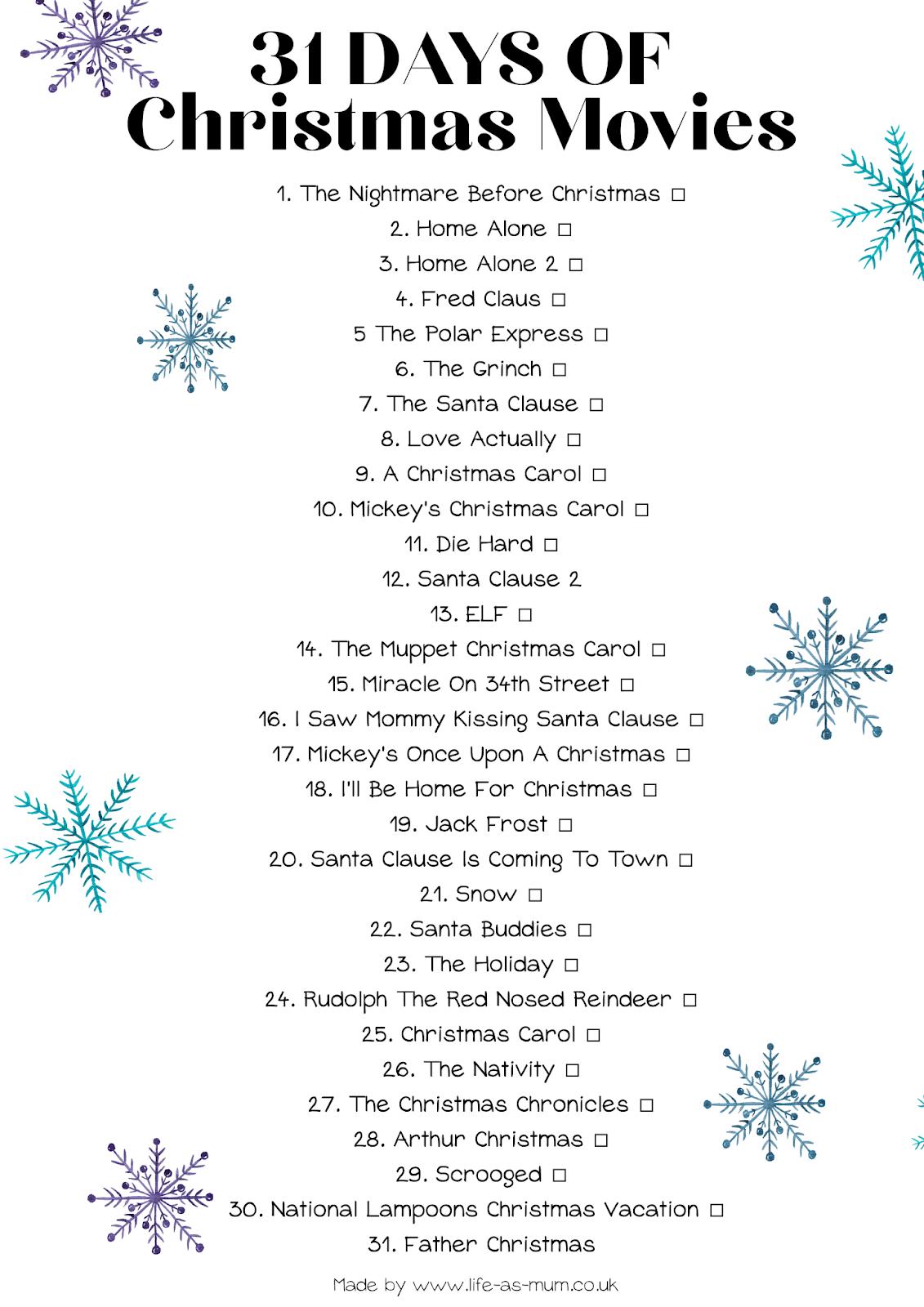 31 Days of Christmas Movies | Beth Owen