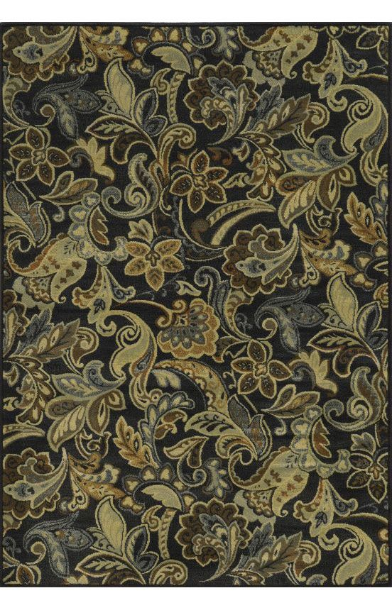 Rizzy Rugs Sorrento SO4405 Black Rug #RugsUSA