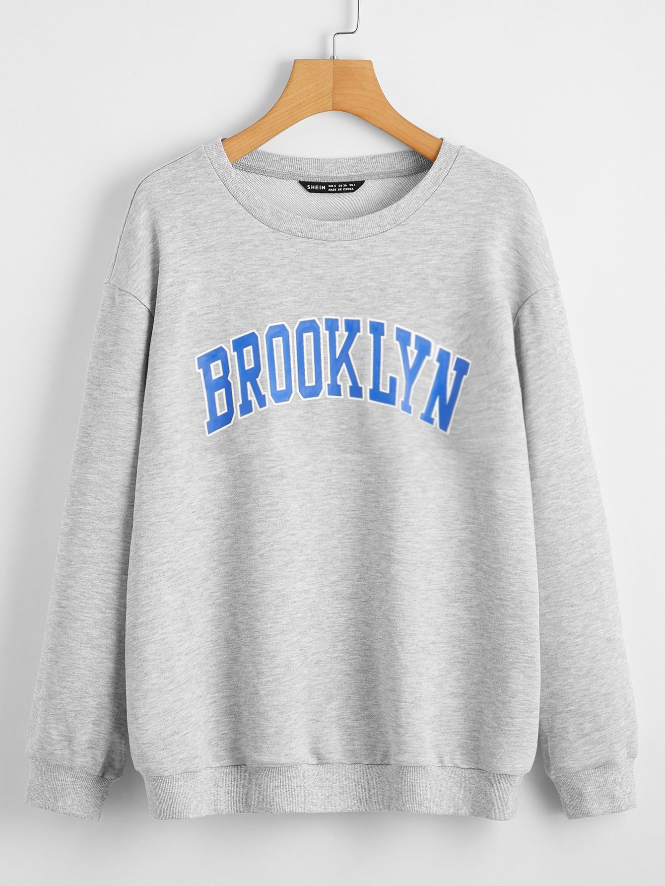 Black Friday 2020 Drop Shoulder Letter Graphic Pullover Shein Usa In 2020 Letter Print Hoodie Sweatshirts Pullover Sweatshirts