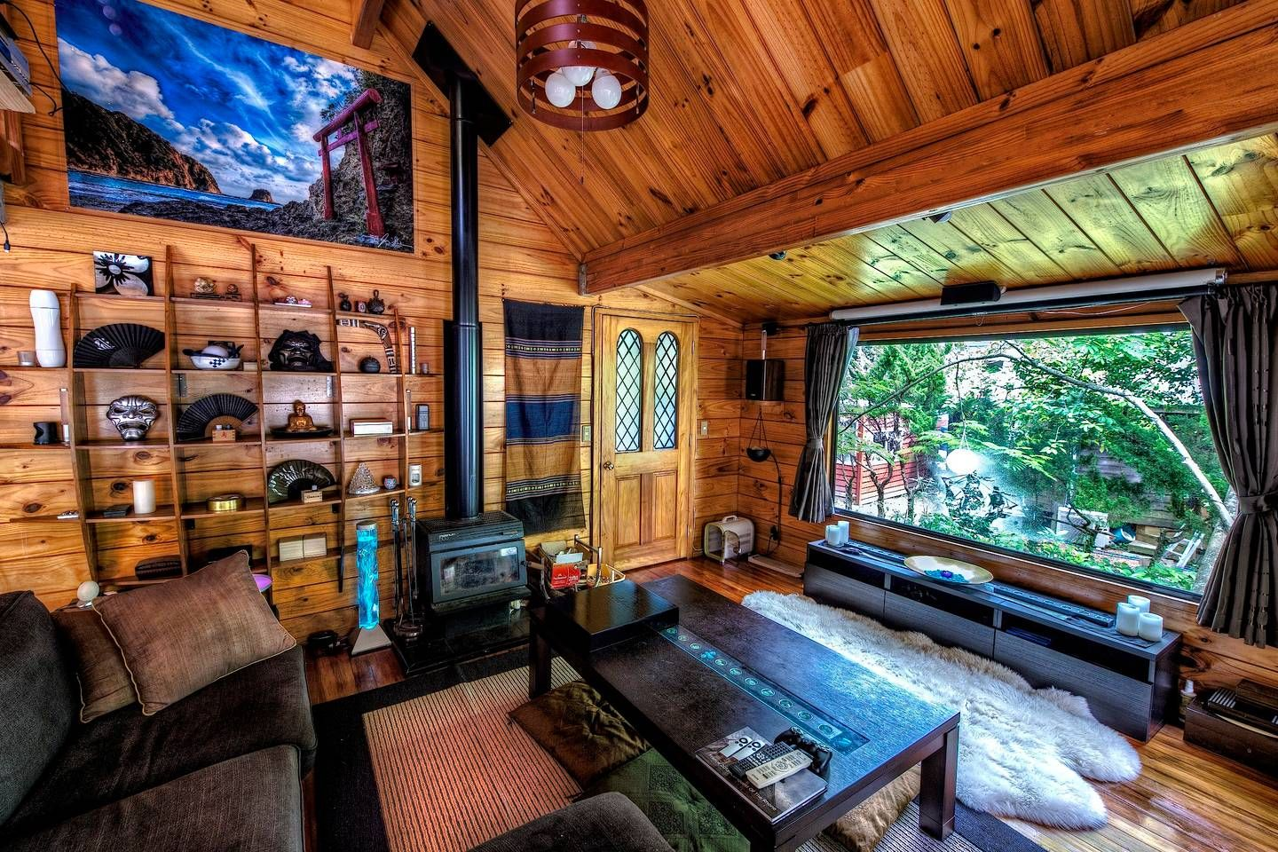 Living Room And Home Theater Private Dining Enclave Chalet