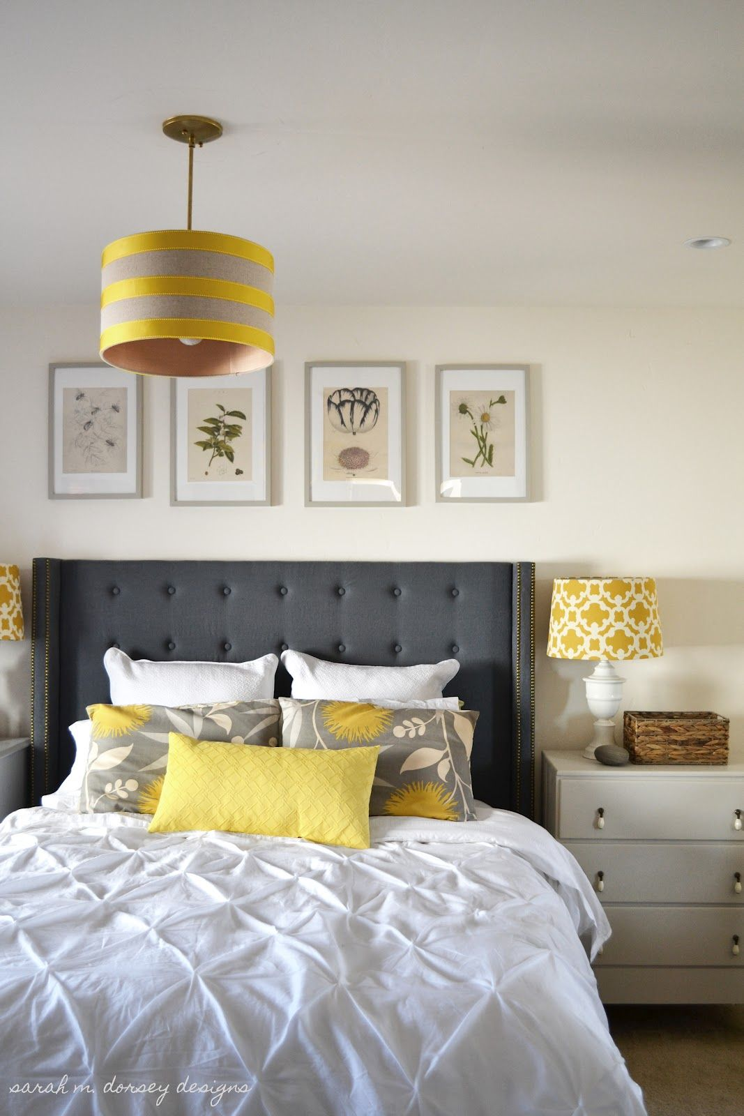 Yellow And Grey Room Designs: Sarah M. Dorsey Designs: Art For Above The Headboard