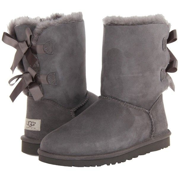 Womens Boots UGG Bailey Bow Grey Twinface