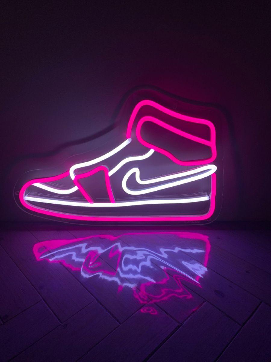 Nike Air Jordan 1 LED neon | Noalux | Wallpaper iphone neon, Pink ...