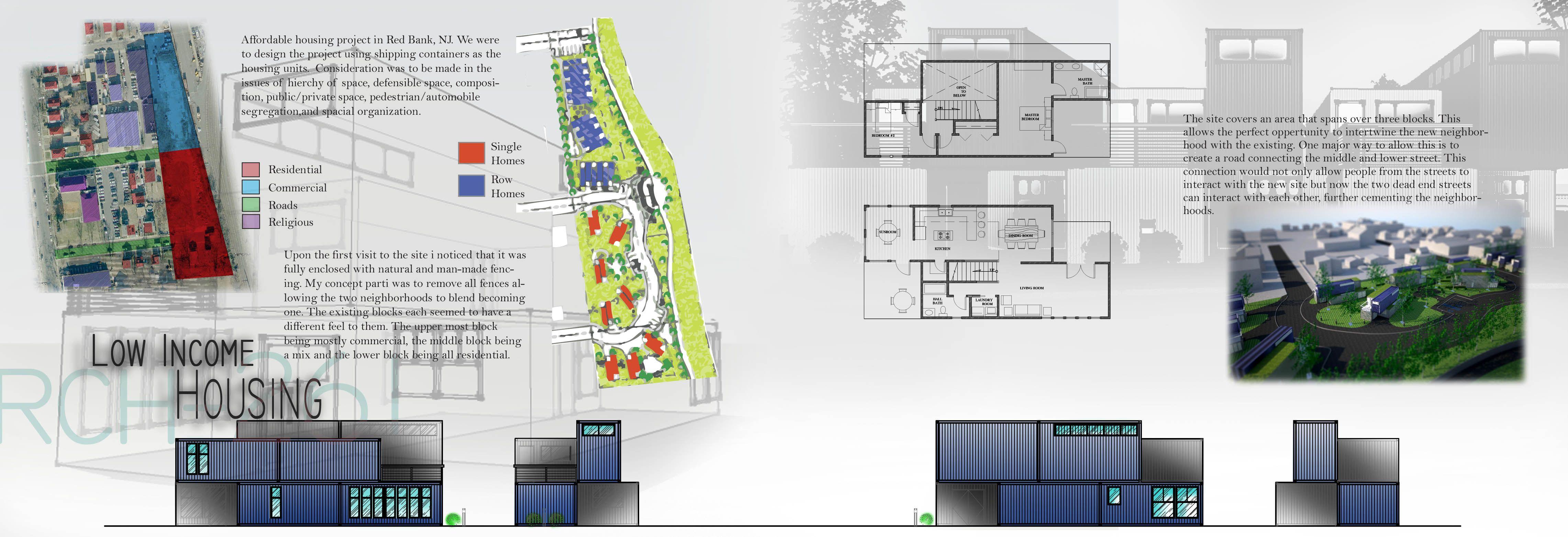 Affordable Housing Brookdale Community College Architecture Portfolio Portfolio Inspiration Affordable Housing