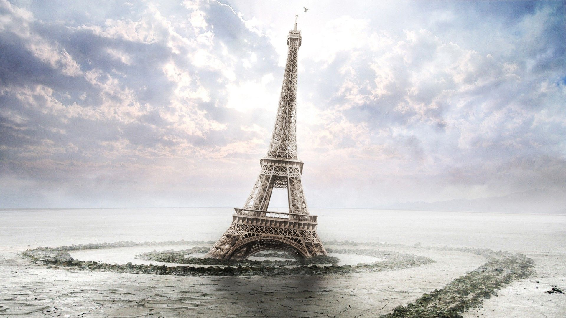 Sinking eiffel tower
