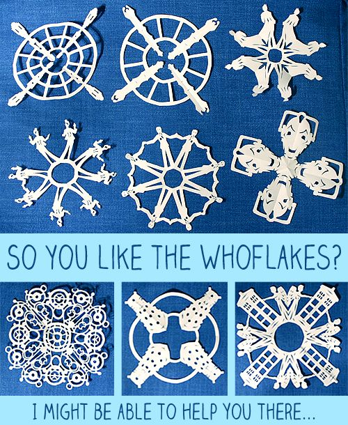 Printable Dr Who Paper Snowflake Patterns Um These May End Up All Over My Office Once It Snows Sara Eriksson Treible