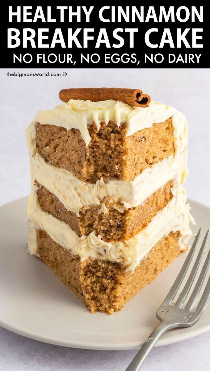 Cinnamon Breakfast Cake (NO eggs or flour!)