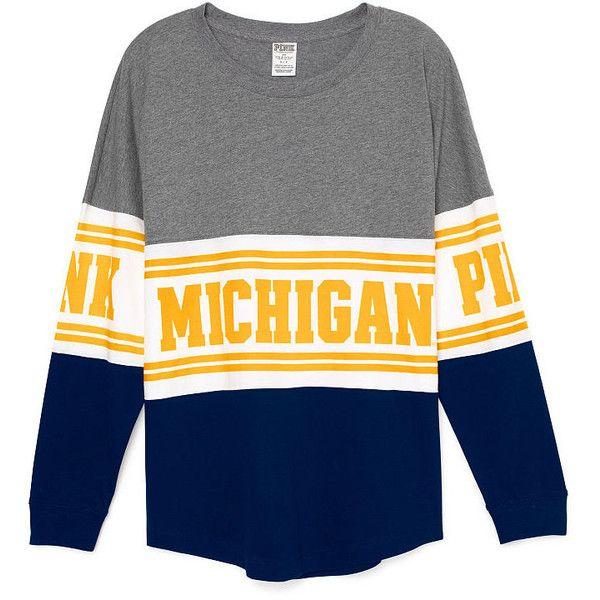 Pink University Of Michigan Varsity Crew Michigan Shirts Michigan Apparel Michigan Wolverines Clothes