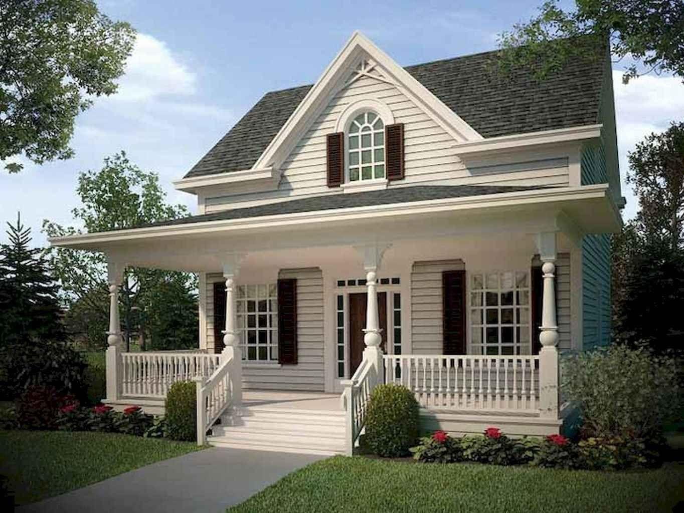 130 Stunning Farmhouse Exterior Design Ideas In 2020 House Plans Farmhouse Country Style House Plans Cottage House Plans