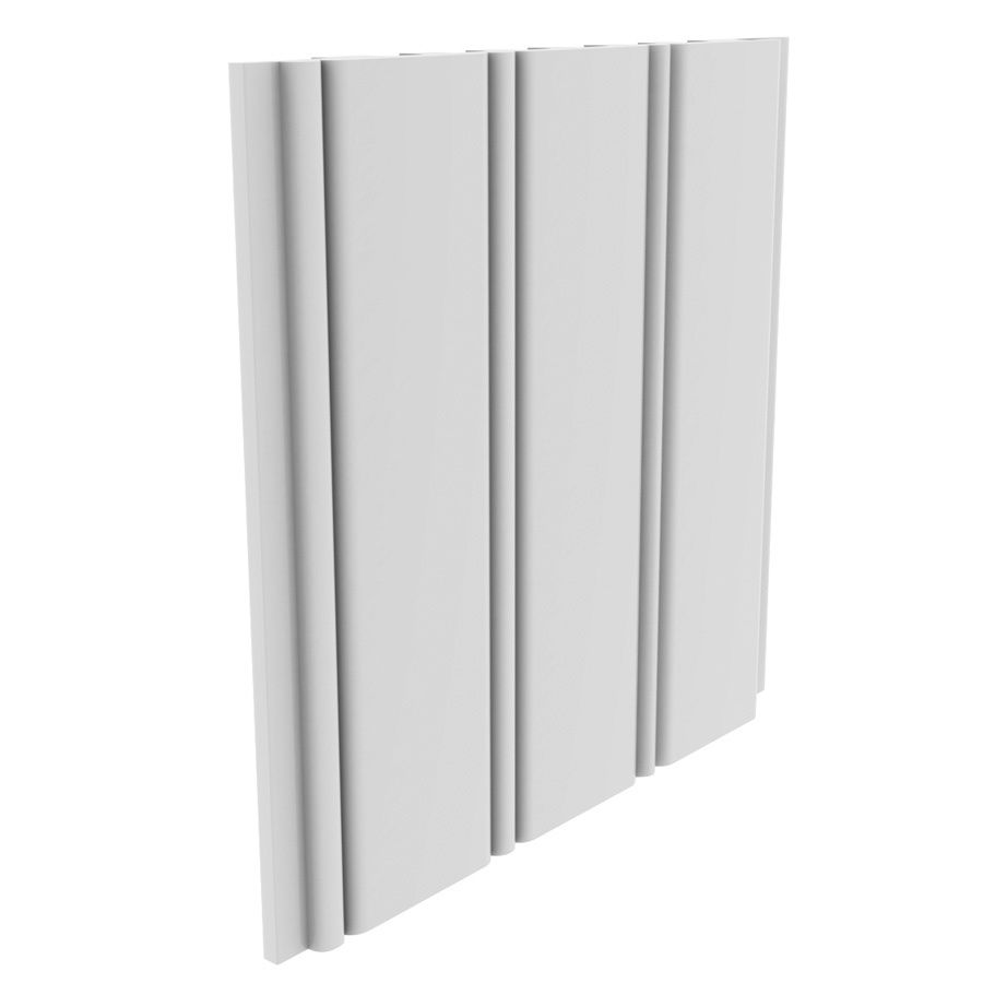 Shop Royal Mouldings Limited 5 4687 In X 8 Ft White Pvc Wall Plank At Lowes Com Wainscoting Wall Paneling Wainscoting Wall Beadboard Wainscoting
