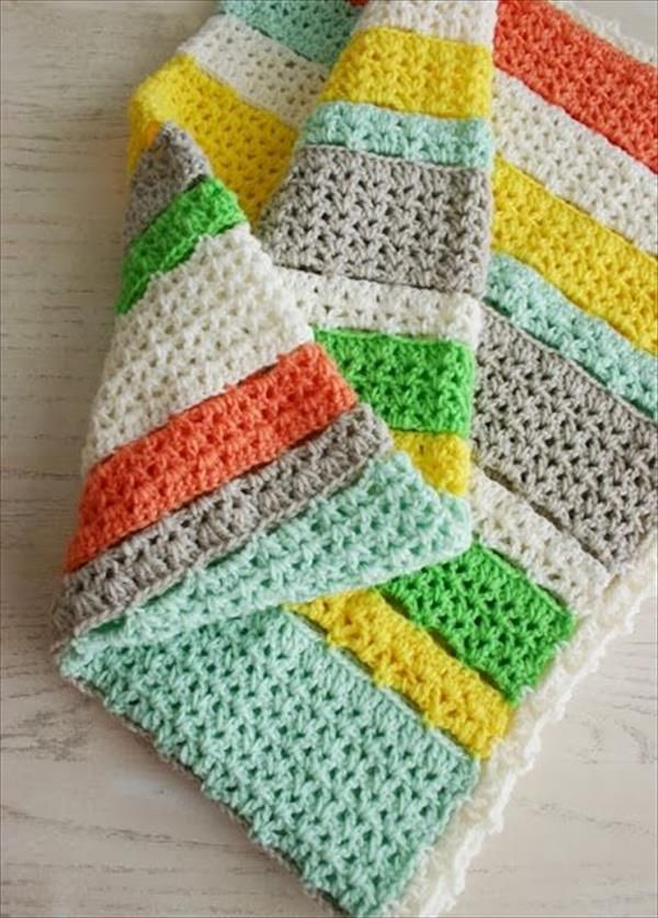 15 Free Crochet Baby Blanket Patterns | Häkeldecke, Handarbeiten und ...