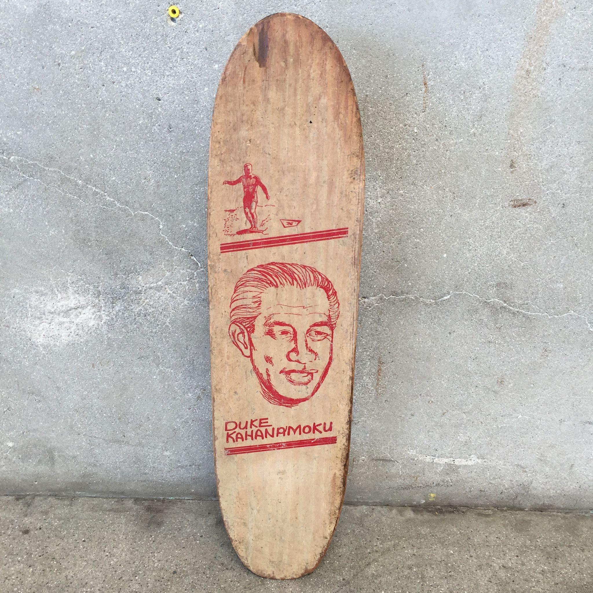 Vintage Nash Duke Kahanamoku Skateboard