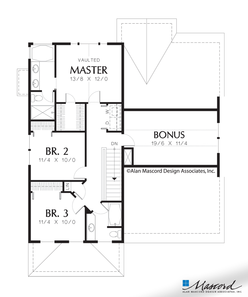 Luxury master bedroom floor plans  Upper Floor Plan of Mascord Plan   The Somersetter  Classic