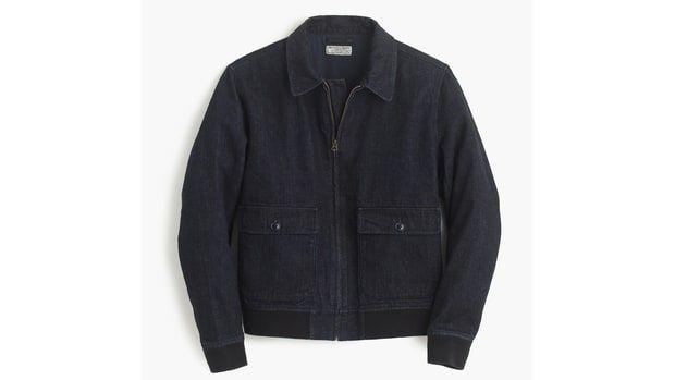 Wallace & Barnes Denim Bomber Jacket