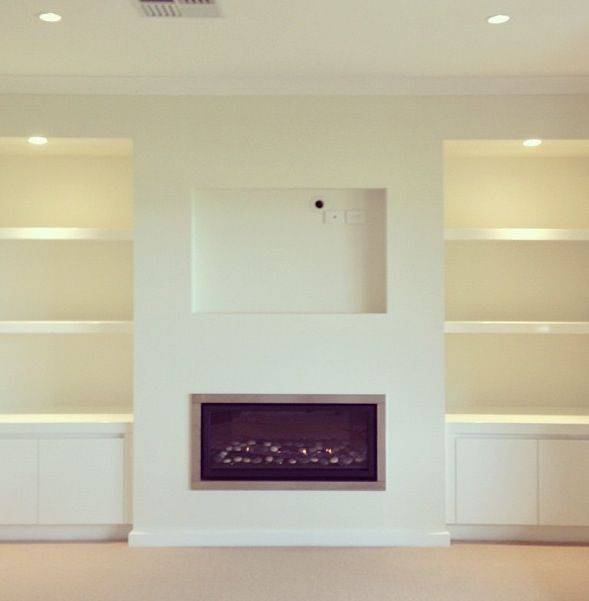 Built In Tv Space With Images Fireplace Built Ins Wall Units