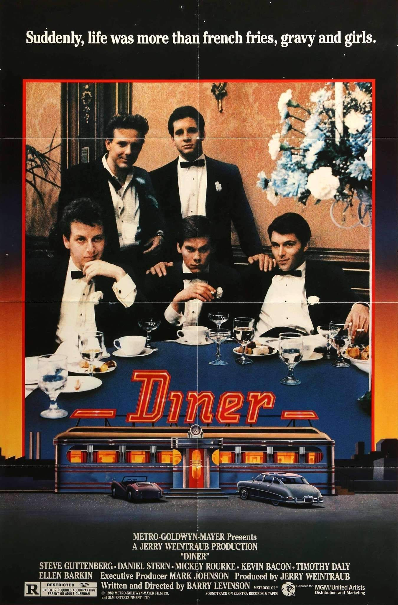Diner 1982 with images diner movie movie posters