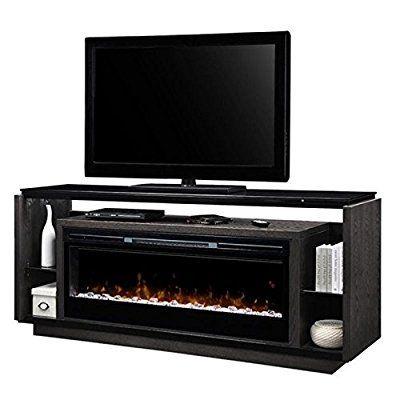 Amazon Com Pemberly Row 74 Fireplace Tv Stand In Smoke Kitchen
