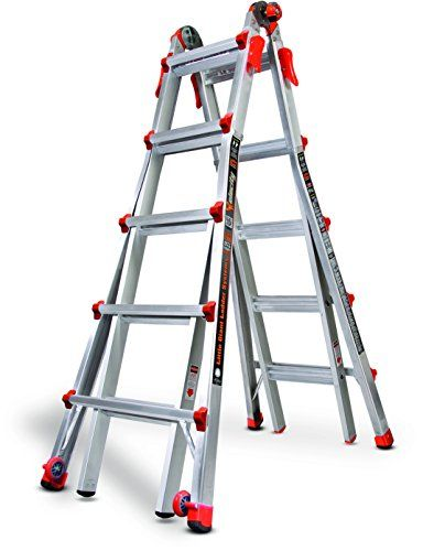 Little Giant Ladder Systems 15422 001 Velocity 300 Pound Duty Rating Multi Use Ladder 22 Foot Little Giant Ladder Sy Ladder Little Giants Multi Purpose Ladder