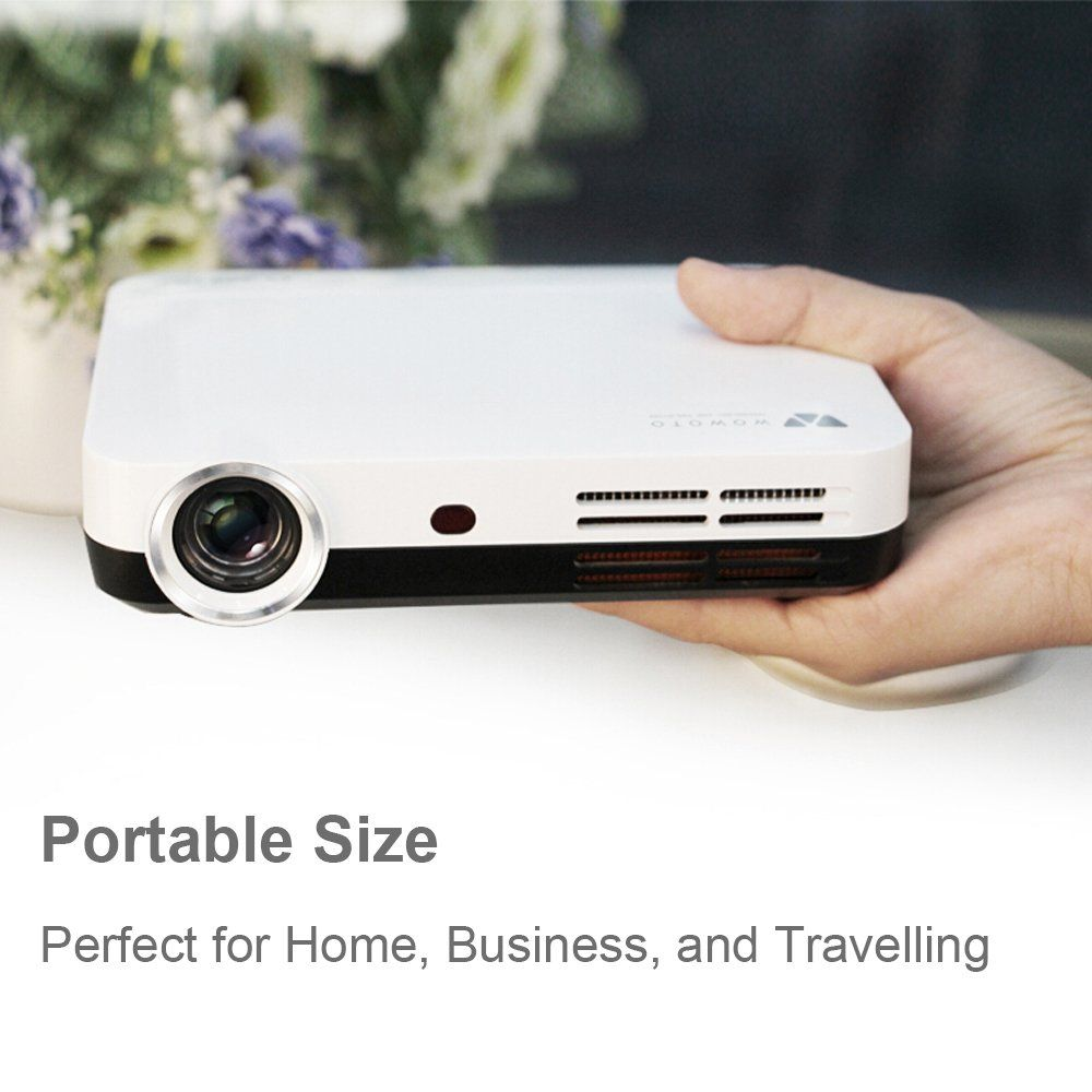 WOWOTO H9 Video Projector 3500 Lumens 3D DLP Projector
