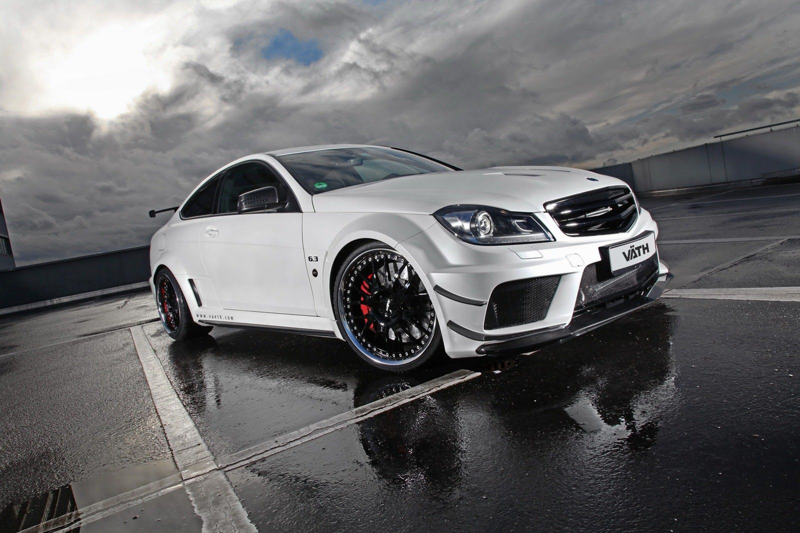 Vath has introduced their latest tuning project based on the powerful c 63 amg coup black series the name of the project is in vath v 63